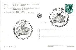 ITALIA - 1979 PARMA IX Convegno Fil. Num. (Palazzetto Dello Sport)  Su Cartolina Ill. (Verdi, Toscanini, Teatro Regio) - Stamps