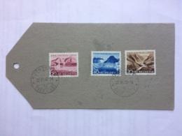 SWITZERLAND 1952 Pro Patria Luggage Label Burgdorf Postmarks - Covers & Documents