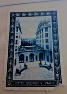 PARIS 1928 CONFERENCE ROOM  OF THE EXPORTS-HOTEL GEORGES V PARIS Timbre Touché Dentelure Vignette Erinnophilie -Neuf * - Erinnophilie