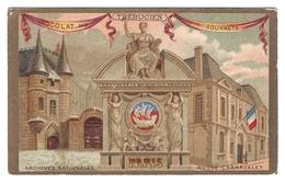 Jolie Chromo Chocolat Trébucien Monument Paris Archives Nationales Musée Carnavalet Hôtel De Clisson Histoire A6-78 - Autres
