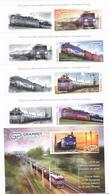 TRAIN 2019 MNH FULL SET + LABELS + BLOCK,ROMANIA. - 1948-.... Républiques