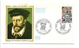 FDC 1973 AMIRAL DE COLIGNY - FDC