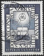AUSTRIA 1967 450th Anniv Of The Reformation - 3s50 Bible On Rock (from Commemorative Coin Of 1717) FU - 1945-.... 2ème République