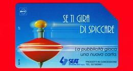 ITALIA - Scheda Telefonica - Usata - TELECOM - Trottole - Se Ti Gira Di Spiccare - Golden 330 - Variante - Italia