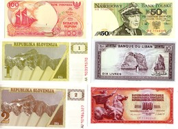 THMS DIV LOT DE 24 Billets Du Monde Neufs. - Banknoten