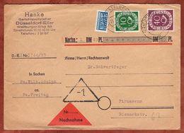 Nachnahme, Posthorn + Notopfer, Duesseldorf Nach Pirmasens, Lagerfriststempel 1954 (72634) - BRD