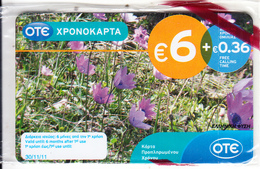 GREECE - Flowers, Greek Narture, OTE Prepaid Card 6 Euro, 06/10, Mint - Greece
