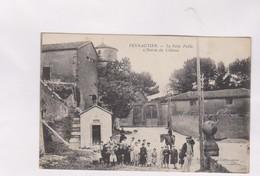 CPA DPT 11 PENNAUTIER,LE POIDS PUBLIC, L ENTREE DU CHATEAU En 1919! - France