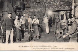 Combrée Animée Ardoisières De La Forêt  Les  Forges Mines Carrières Puits - France