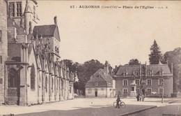 21. AUXONNE. CPA . PLACE DE L'EGLISE. ANIMATION - Auxonne
