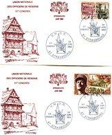 France - 1964/1969- Yt 1410/1607Libération Sur  2 Lettres(congrès Unor Strasbourg 1983) - France