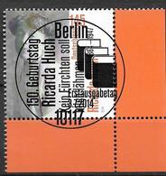 2014 Allem. Fed. Deutschland Germany Mi. 3093 FD-used Berlin  EUR   150. Geburtstag Von Ricarda Huch - [7] Federal Republic