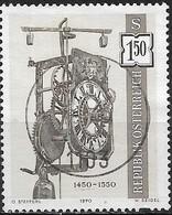 AUSTRIA 1970 Antique Clocks - 1s50 Tower Clock, 1450-1550 FU - 1945-.... 2nd Republic