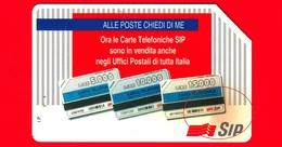 ITALIA - Scheda Telefonica - Usata - SIP - Alle Poste Chiedi Di Me - Golden 333 - Variante - Italia