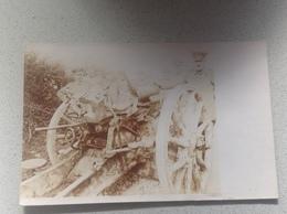 Photo Carte Soldat  Canon Obus Militaire Militaria - Guerre 1914-18