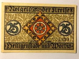Allemagne Notgeld Worbis 25 Pfennig - [ 3] 1918-1933 : République De Weimar