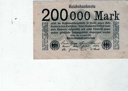 Billet De 200,000 Mark - En S U P - Le 9 Août 1923 - Uni Face - - [ 3] 1918-1933 : République De Weimar