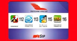 ITALIA - Scheda Telefonica - Usata - SIP - Protezione Civile - Golden 338 - Variante - Italie