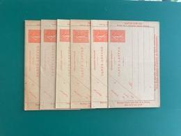 50c Semeuse Lignée Lot De 6 CARTES LETTRES Neuves - Cartes-lettres