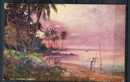 "CPA Signierte Color Künstlerkarte Raphael Tuck & Sons Nr.7295 ""Port Morant,Jamaica,belebt""1 AK Blanco. - Tuck, Raphael"