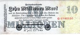 Billet De 10 Millionen Mark Le 25-7-1923 En T B - Uni Face - - [ 3] 1918-1933: Weimarrepubliek