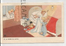 Petite Fille En Prière Guidée Par Un Ange. II La Prière Du Matin. Signée J. Gouppy - Scènes & Paysages