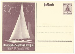 Olympia  1936  - Entier Postal - Jeux Olympiques