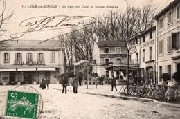 [84] Vaucluse > L'Isle Sur Sorgue Un Coin Des Cafés Et Societe Generale - L'Isle Sur Sorgue