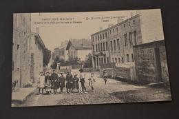 Carte Postale 1912 St Just Malmont 43 Entrée De La Ville Par Route De Firminy - France