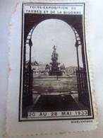 1933 - TARBES ET DE LA BIGORRE FOIRE EXPOSITION COMMERCIALE  Timbre Vignette Erinnophilie -Neuf * - Erinnophilie