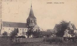 37  LOUANS. CPA. RARETÉ. L'EGLISE COTE SUD. ANNEE 1913 - France