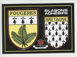 Fougères Bretagne - Autocollant - Blasons Adhésifs (cp Vierge) - Fougeres