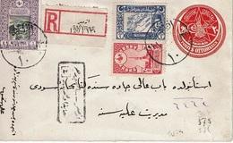 TURQUIE - T.P. 304+575+576 S/E.P. Envoyé Par Recommandé De SMYRNE - 1837-1914 Smyrne