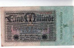 Billet De 1 Milliard Mark (type 1923) Le 5-9-1923 En T B - Uni Face - - [ 3] 1918-1933 : Repubblica  Di Weimar