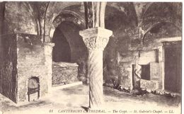 Canterbury Cathedral The Crypt St Gabriel'chapel - Autres