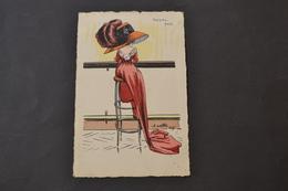 Carte Postale 1910 ROYAL BAR Par Naillod Femme Au Bar - Naillod