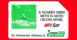 ITALIA - Scheda Telefonica - Usata - SIP - Numero Verde - Aereo - Golden 346 - Variante - Italia