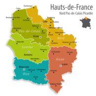 Lot HdF- 100 CP De La Région HAUTS DE FRANCE (Départements 02, 59, 60, 62, 80) - Ansichtskarten