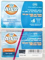"GREECE - Allo Card, OTE Prepaid Card 6 Euro, CN : 31(without ""I"")-grey Writing, Tirage 4000, 08/06, Mint - Greece"