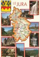 AK Le Jura, Map, Landkarte, Geografiekarte - Cartes Géographiques