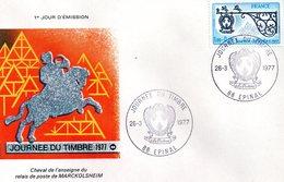 Journée Du Timbre 1977 Avec N° 1927 - Documents De La Poste