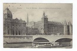 CPA Paris Tour De L'Horloge Palais De Justice Et Pont Au Change - Arrondissement: 01