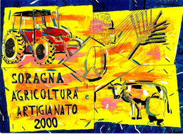 ITALIA - 2000 SORAGNA (PR) 23^ Mostra Artigianato Agricoltura Commercio (EURO) Su Cartolina Speciale - Agricoltura