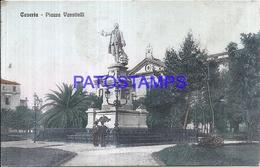 110759 ITALY CASERTA CAMPANIA SQUARE VANVITELLI & MONUMENT POSTAL POSTCARD - Italie