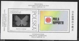 POLONIA - PHILANIPPON '91 - ESPOSIZIONE FILATELICA 1991   - FOGLIETTO NUOVO** (YVERT BF 124 - MICHEL BL 115) - Esposizioni Filateliche