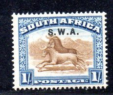 APR553 - SOUTH WEST AFRICA 1927 ,  1 Sh N. 89 Integro  ***  (2380A). - Africa Del Sud-Ovest (1923-1990)