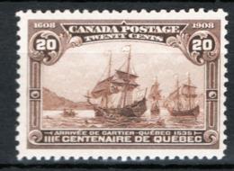 Canada 1908 Y.T.92 MH/* VF/F - 1903-1908 Regno Di Edward VII