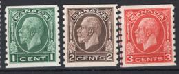 Canada 1932 Y.T.161a/63b MH/* VF/F - Nuovi