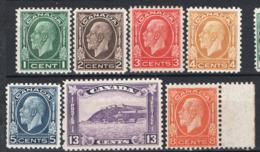 Canada 1932 Y.T.161/67 MH/* VF/F - Nuovi