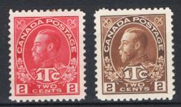 Canada 1915 Y.T.105/06 MH/* VF/F - Nuovi